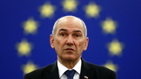 Янез Янша бе в Европейския парламент в Страсбург, за да представи приоритетите на словенското председателство на ЕС.