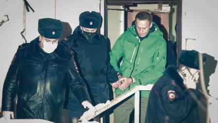 Арест Навального в Москве