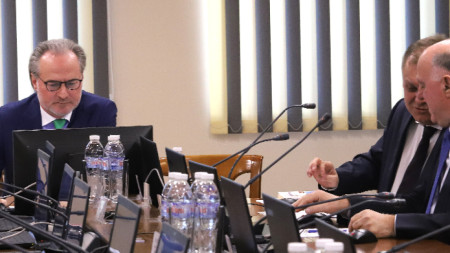 Заседание на Съдийската колегия на Висшия съдебен съвет. На снимката: Лозан Панов, Георги Чолаков, Боян Магдалинчев.