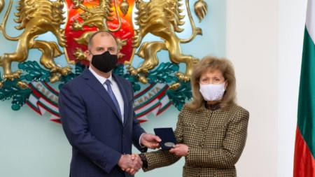 Президентът Румен Радев и проф. Екатерина Трендафилова