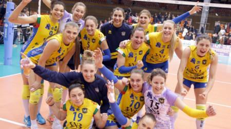 ВК Марица (Пловдив) с историческа победа в Шампионската лига