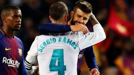 Пике ще ирая в Мадрид за разлика от Рамос.