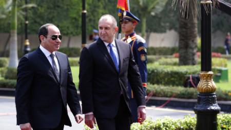 Румен Радев и Абдел Фатах ал Сиси обсъдиха в Египет двустранното сътрудничество