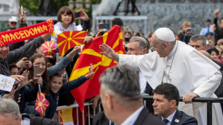 Папа Франциск в Северна Македония