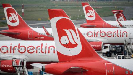 Air Berlin обяви фалит през август 2017 година