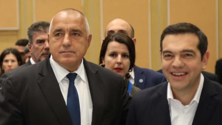 Бойко Борисов и Алексис Ципрас