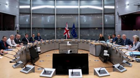 Среща на Брекзит преговарящите Мишел Барние (ЕС) и Стивън Баркли (Великобритания)
