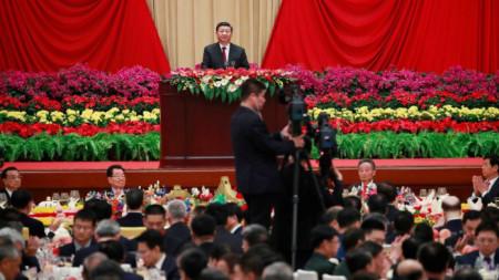 Реч на китайския президент Си Цзинпин на приема за Националния ден в Голямата зала на народа в Пекин