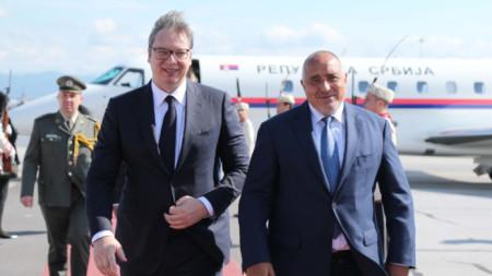 Борисов посрещна президента на Сърбия Александър Вучич