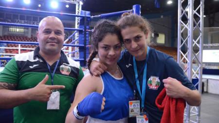 Диана ал Шаар (в средата) е на финал при 80-килограмовите.