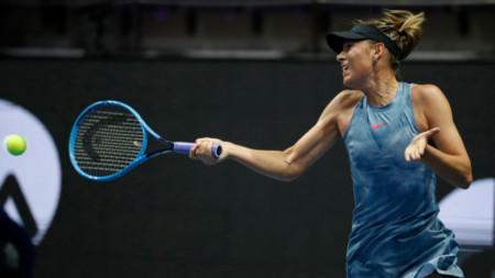 Мария Шарапова не е играла от февруари.