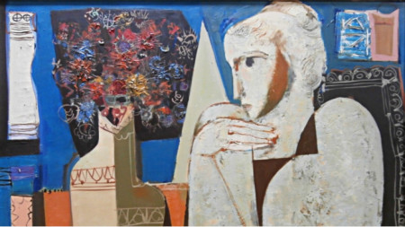 """Георги Божилов - Слона, """"Девойка"""", 1975 г., Българско посолство - Париж"""