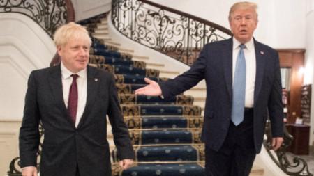 Борис Джонсън и Доналд Тръмп