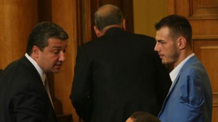 Михаил Христов (вдясно) и Драгомир Стойнев
