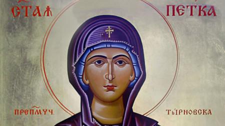 Bulgarische Ikone der heiligen Petka (Detail)