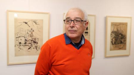 Милко Божков на откриването на изложбата в галерия