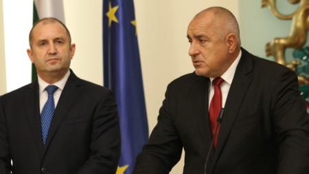 Президентът на Румен Радев и министър-председателят Бойко Борисов дадоха съвместен брифинг след разговорите си във връзка с кризата заради Covid-19
