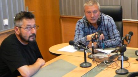 Проф. Георги Каприев и Митко Новков