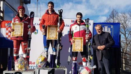 Калин Златков зае третото място в Загреб.