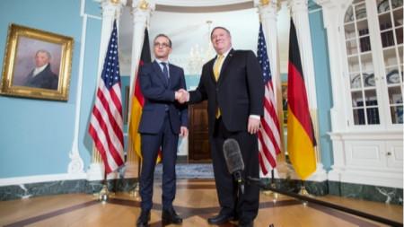 Държавният секретар на САЩ Майк Помпейо и германският външен министър Хайко Маас