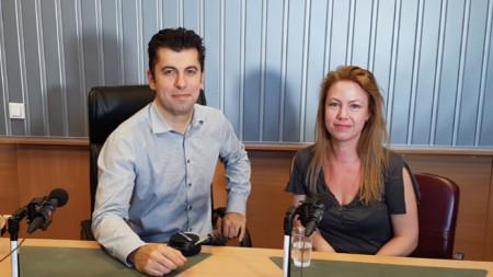 """Линда и Кирил Петкови в студиото на програма """"Христо Ботев"""""""