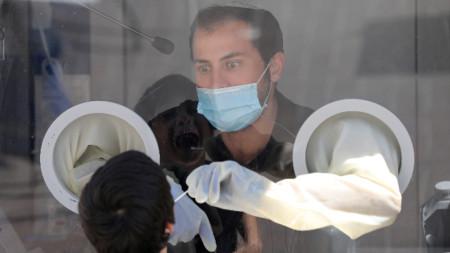 Тест за коронавируса край Ерусалим, 13 септември 2020 г.