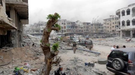 Град Маарат ан-Нуман в сирийската област Идлиб
