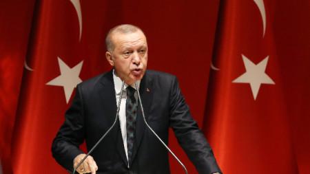 Турският президент Режеп Тайип Ердоган