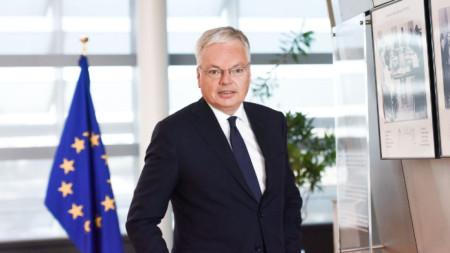 Еврокомисарят по правосъдието Дидие Рейндерс
