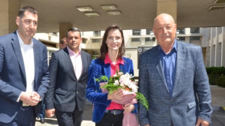 Водачът на листата на ГЕРБ за ЕВРОИЗБОРИ 2019 Мария Габриел в НБ