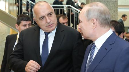Борисов разговаря с руския президент Владимир Путин.