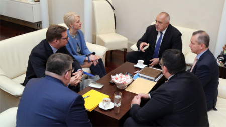 The meeting of Prime Minister Boyko Borissov with Emma Hopkins, British Ambassador to Sofia, Chief Prosecutor Sotir Tsatsarov, Interior Minister Mladen Marinov and SANS head Dimitar Georgiev