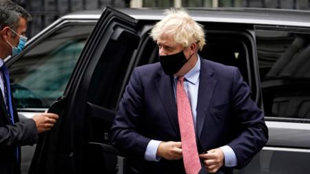 Борис Джонсън пристига на форума на Консервативната партия