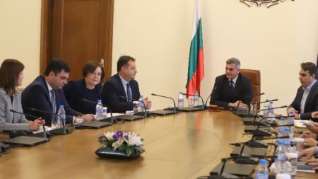 Среща на НСОРБ със служебния премиер Стефан Янев.