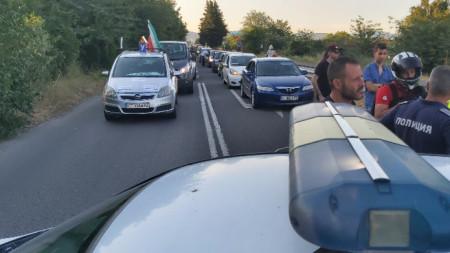 Вчера жандармерия възпрепятства автошествието на старозагорци, които искат да блокират магистрала Тракия.