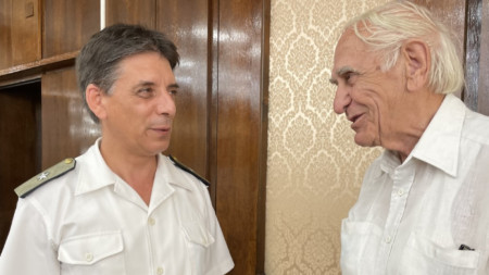 Флотилен адмирал Георги Пенев и кап. I-ви ранг Георги Методиев