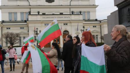 Протест срещу СЕТА и Стратегията за детето пред Народното събрание.