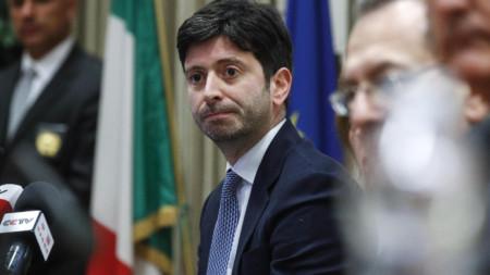 Италианският министър на здравеопазването Роберто Сперанца