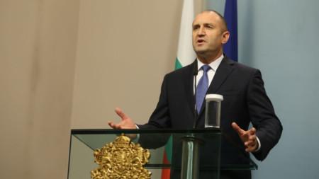 Президентът Румен Радев направи на 7 ноември изявление за медиите за избора на Иван Гешев за нов главен прокурор от Висшия съдебен съвет.