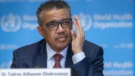 Генералният секретар на Световната здравна организация (СЗО) Тедрос Гебрейесус.
