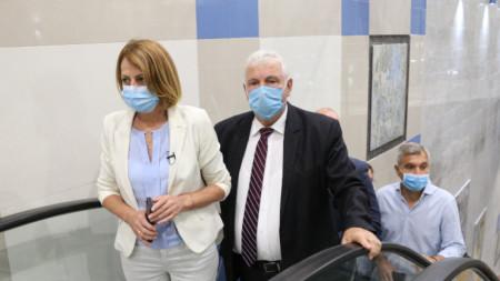 Столичният кмет Йорданка Фандъкова откри новия лъч на метрото