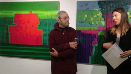 Велин Динев представи творбите си в галерия