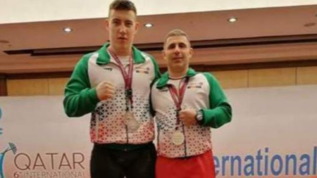 Hristo Hristov (left), Yunder Beytula (right) at Doha tournament