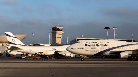 """Самолети на израелското международно летище """"Бен Гурион"""""""