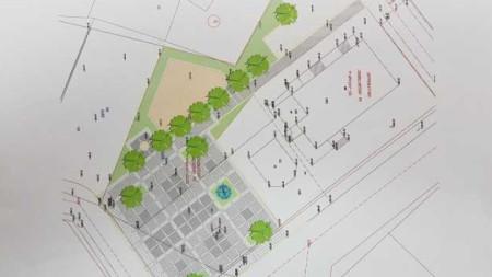 Схема на новия площад в Джерман