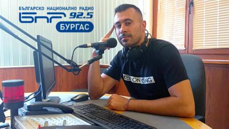 Борислав Борисов в студиото на БНР Бургас
