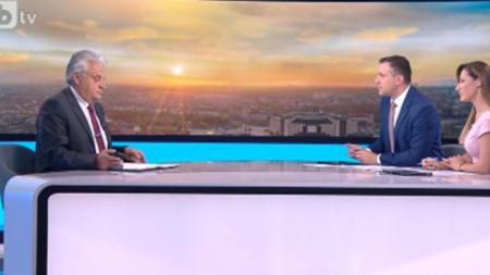 Still frame of Boyko Rashkov's interview with bTV on May 17