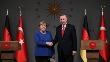 Ангела Меркел и Реджеп Ердоган