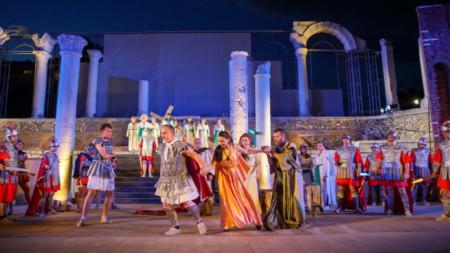 """Момент от генералната репетиция на операта """"Траян в Тракия"""""""