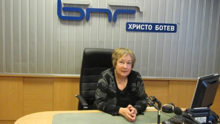 Яна Добрева в студиото на предаването